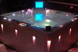Outdoor Hot Tub Lighting Installation